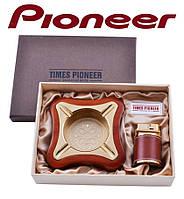 Подарочный набор Pioneer 2 в 1 пепельница и зажигалка №3619