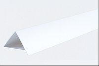 Декоративні кути ПВХ білі LinePlast 40х40