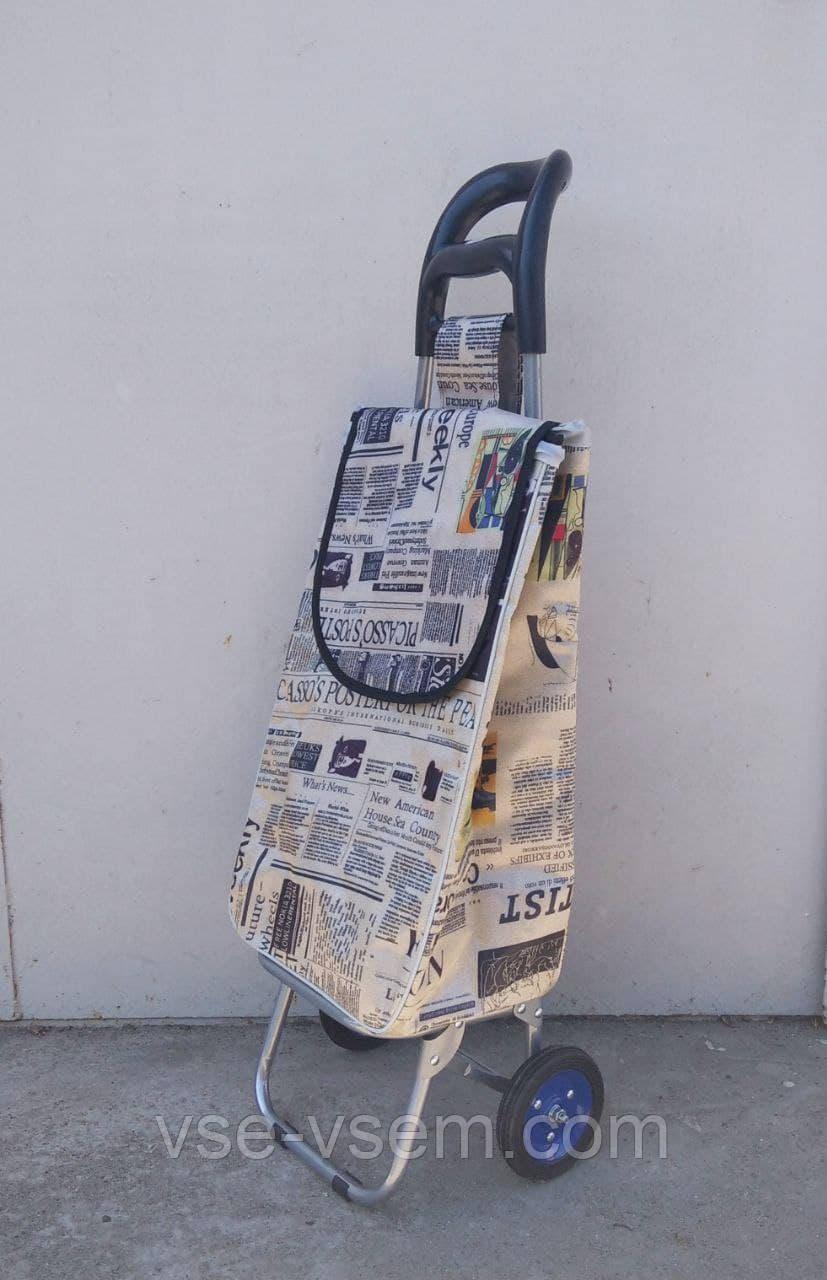Хозяйственная сумка тележка Xiamen с колесами на подшипниках Brown strawberry (0065)
