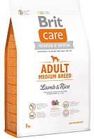 132711 Brit Care Dog Adult Medium Breed Lamb & Rice, 1 кг