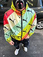Ветровка мужская стильная разноцветная молодежная с капюшоном S M L XL XXL