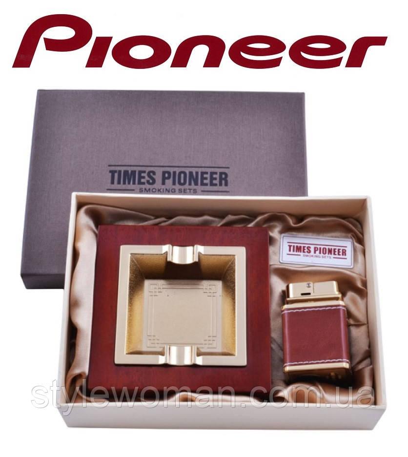Подарочный набор Pioneer 2 в 1 пепельница и зажигалка №3623