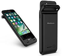 Чехол - аккумулятор повербанк Nekteck с беспроводной зарядкой для iPhone 7+ Plus 4000 mAh black