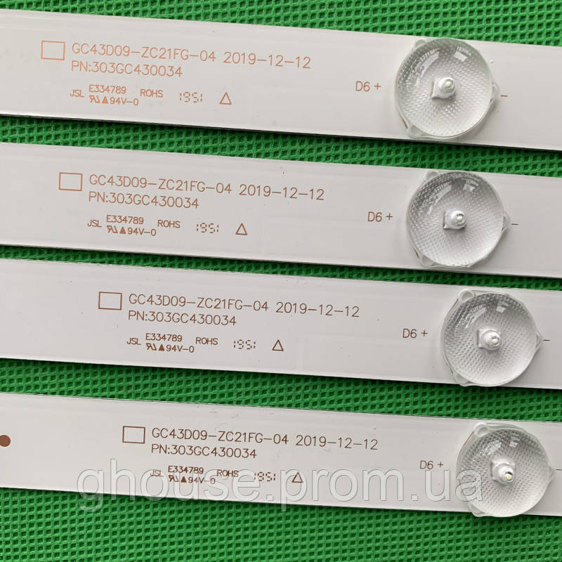 LED підсвічування DLED43GC4X9 GC43D09-ZC21FG-04 GC43D09-ZC21FA-01 GC43D09-ZC23FG-01