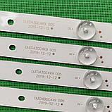 LED підсвічування DLED43GC4X9 GC43D09-ZC21FG-04 GC43D09-ZC21FA-01 GC43D09-ZC23FG-01, фото 4