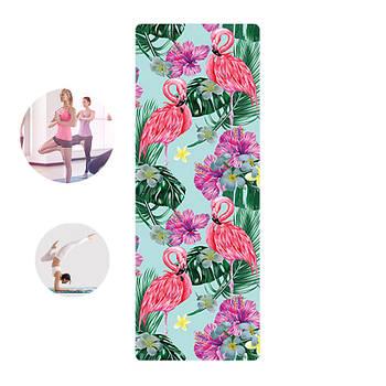 Коврик для фитнеса и йоги Meileer rubb-22 Фламинго 1830*680*4mm