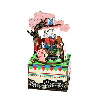 Дитяча дерев'яна шкатулка конструктор Robotime AM404 Музична скринька