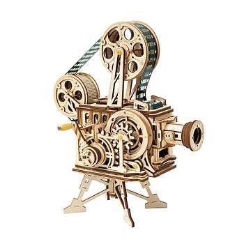 Дитячий дерев'яний 3D конструктор Robotime LK601 Кінопроектор