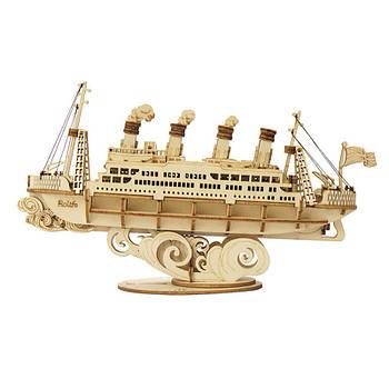 Дитячий дерев'яний 3D конструктор Robotime TG306 Титанік