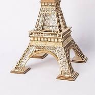 Дитячий дерев'яний 3D конструктор Robotime TG501 Ейфелева вежа, фото 3
