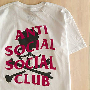 Футболка ASSC Mastermind белая   Бирка Anti Social social club, фото 2