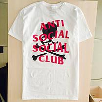 Футболка ASSC Mastermind белая   Бирка Anti Social social club, фото 3