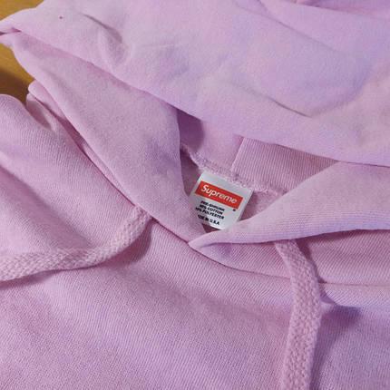 Supreme Pink Худи женская • Бирка • Розовая толстовка Суприм, фото 2