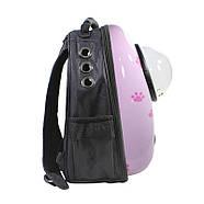 Рюкзак-переноска для кошек Taotaopets Window Pink Cat, фото 2