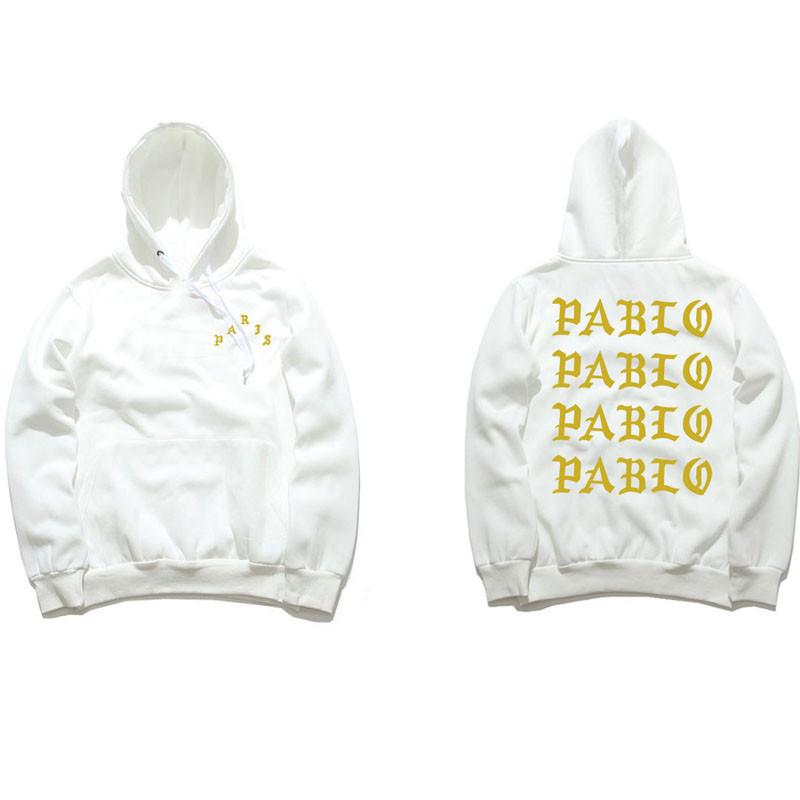 Толстовка белая I Feel Like Pablo | худи пабло | кенгурушка лайк пабло