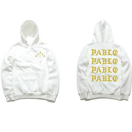 Толстовка белая I Feel Like Pablo | худи пабло | кенгурушка лайк пабло, фото 2