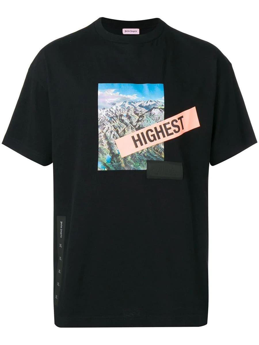 Футболка чорна Palm Angels Hightest • Палм Анджелс футболка