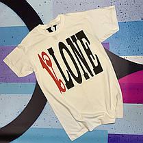 Футболка белая Palm Angels x Vlone Red • Палм Анджелс футболка, фото 3