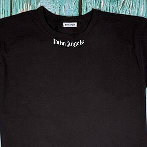 Футболка чёрная Palm Angels Back • Палм Анджелс футболка, фото 2