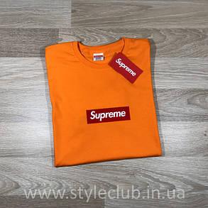 Футболка Supreme оранж   Бирка оригінальна, фото 2