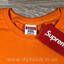 Футболка Supreme оранж   Бирка оригінальна, фото 3