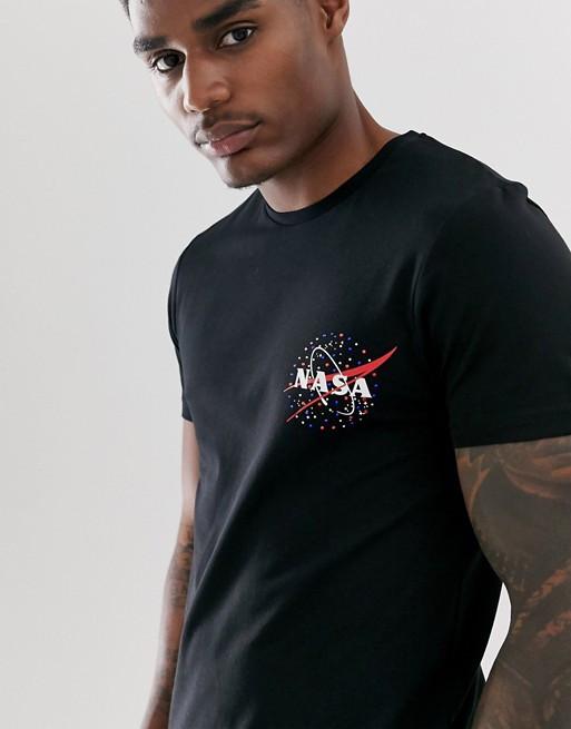Футболка чёрная NASA small • насса