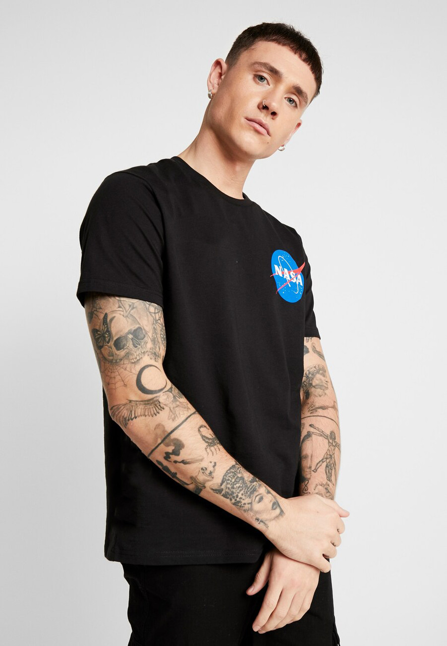 Футболка чорна NASA back • насса