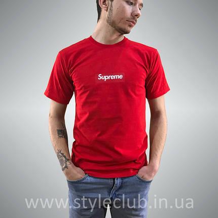 Футболка чоловіча Supreme червона   Бирка оригінальна, фото 2