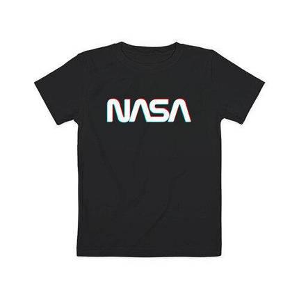 Футболка чорна NASA • насса, фото 2