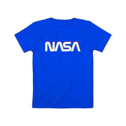 Синя Футболка NASA • насса, фото 2
