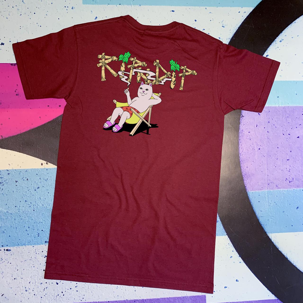 Бордова футболка RipNDip • summer