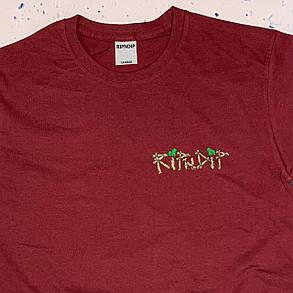 Бордова футболка RipNDip • summer, фото 2