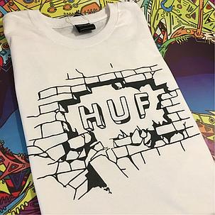 Белая футболка Huf. В наличии все размеры, фото 2