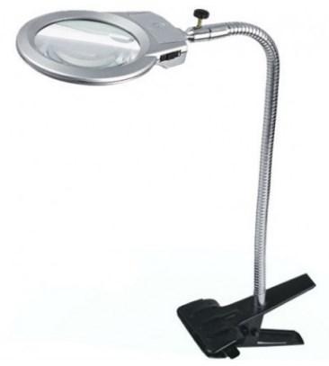 Лампа-лупа настольная белая (маленькая на прищепке)