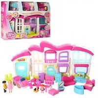 Игровой набор для девочек Домик для кукол с мебелью в комплекте с куклами