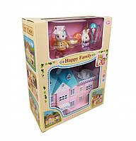 Детский игровой домик для кукол с зайчиками. Кукольный домик с зайчиками