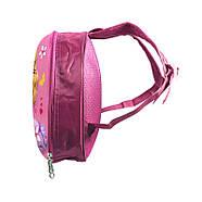 Детский рюкзак с твердым корпусом Lesko DK-13 Девочка в Фиолетовой шляпе, фото 2