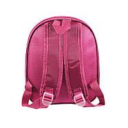 Детский рюкзак с твердым корпусом Lesko DK-13 Девочка в Фиолетовой шляпе, фото 3