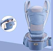 Хипсит, Ерго-рюкзак кенгуру переноска Baby Carrier 6 в 1 Блакитний (n-891), фото 8