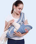 Хипсит, Ерго-рюкзак кенгуру переноска Baby Carrier 6 в 1 Блакитний (n-891), фото 9