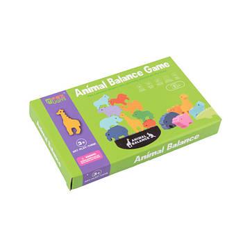Дерев'яна розвиваюча іграшка балансир Animal Balance Lesko DL2253 Світ динозаврів