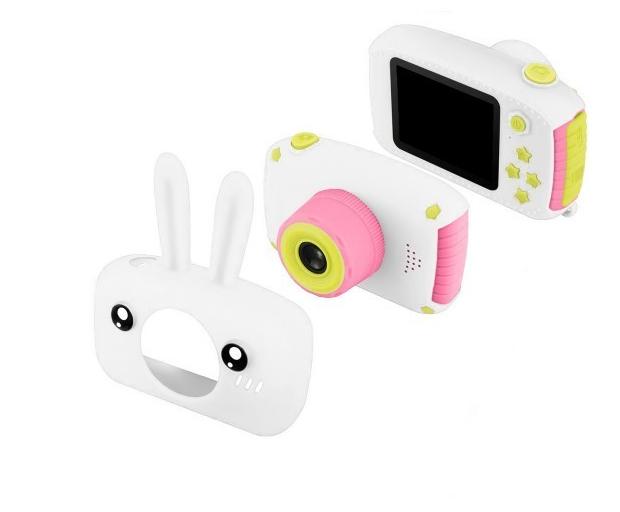 Детский цифровой фотоаппарат фотокамера с ушками с автофокусом фотик для ребенка BABY RABBIT (X-500) Белый, фото 1
