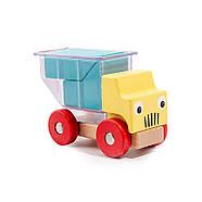 Деревянная развивающая игра Lesko DL-5556 Машинки для детей, фото 3