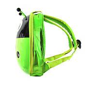 Дитячий рюкзак з твердим корпусом Lesko 229 Ladybug Green, фото 2