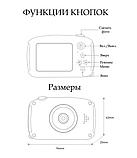 Детский цифровой фотоаппарат фотокамера с ушками с автофокусом фотик для ребенка BABY RABBIT Желтый (3766), фото 6