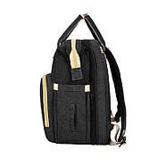 Сумка-рюкзак для мам і ліжечко для малюка Lesko 2 в 1 Black, фото 4