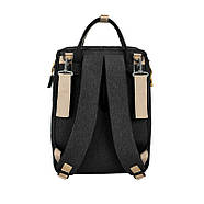 Сумка-рюкзак для мам і ліжечко для малюка Lesko 2 в 1 Black, фото 6