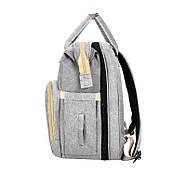 Сумка-рюкзак для мам і ліжечко для малюка Lesko 2 в 1 Gray, фото 4