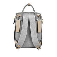 Сумка-рюкзак для мам і ліжечко для малюка Lesko 2 в 1 Gray, фото 5