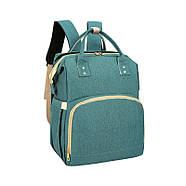 Сумка-рюкзак для мам і ліжечко для малюка Lesko 2 в 1 Aquamarine, фото 3
